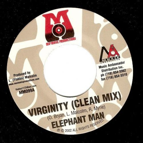 ELEPHANT MAN Virginity Vinyl Record 7 Inch US Mo' Music Productions 2002